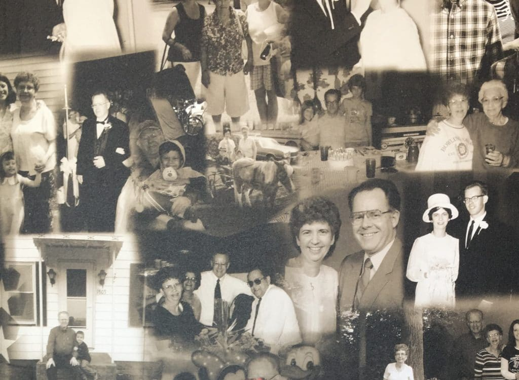 Display old family photos, family tree wallpaper collage