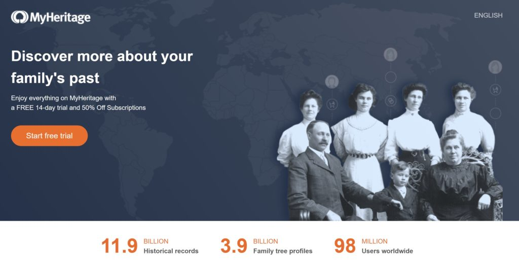 MyHeritage Free Trial
