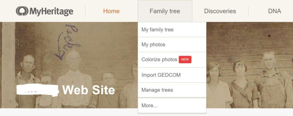 MyHeritage Print Family Tree 1