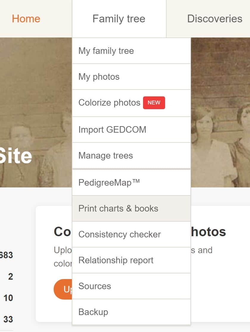 MyHeritage Print Family Tree 2