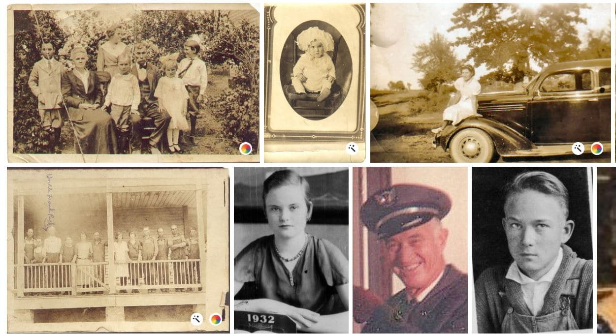 Photo gallery collage from MyHeritage