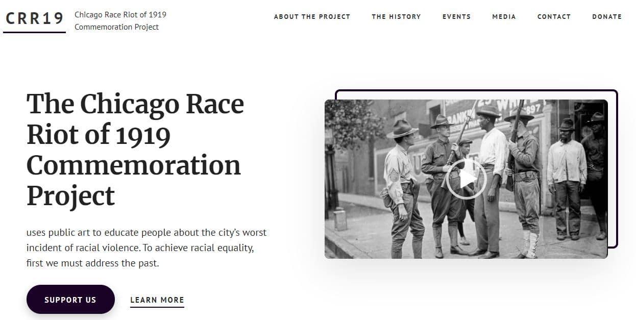 CRR19 Website Homepage Screenshot
