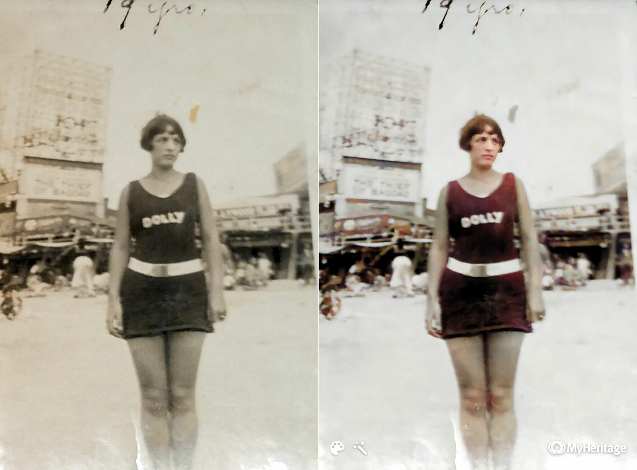 Comparison of Larger Image MyHeritage Colorizer and Enhancer