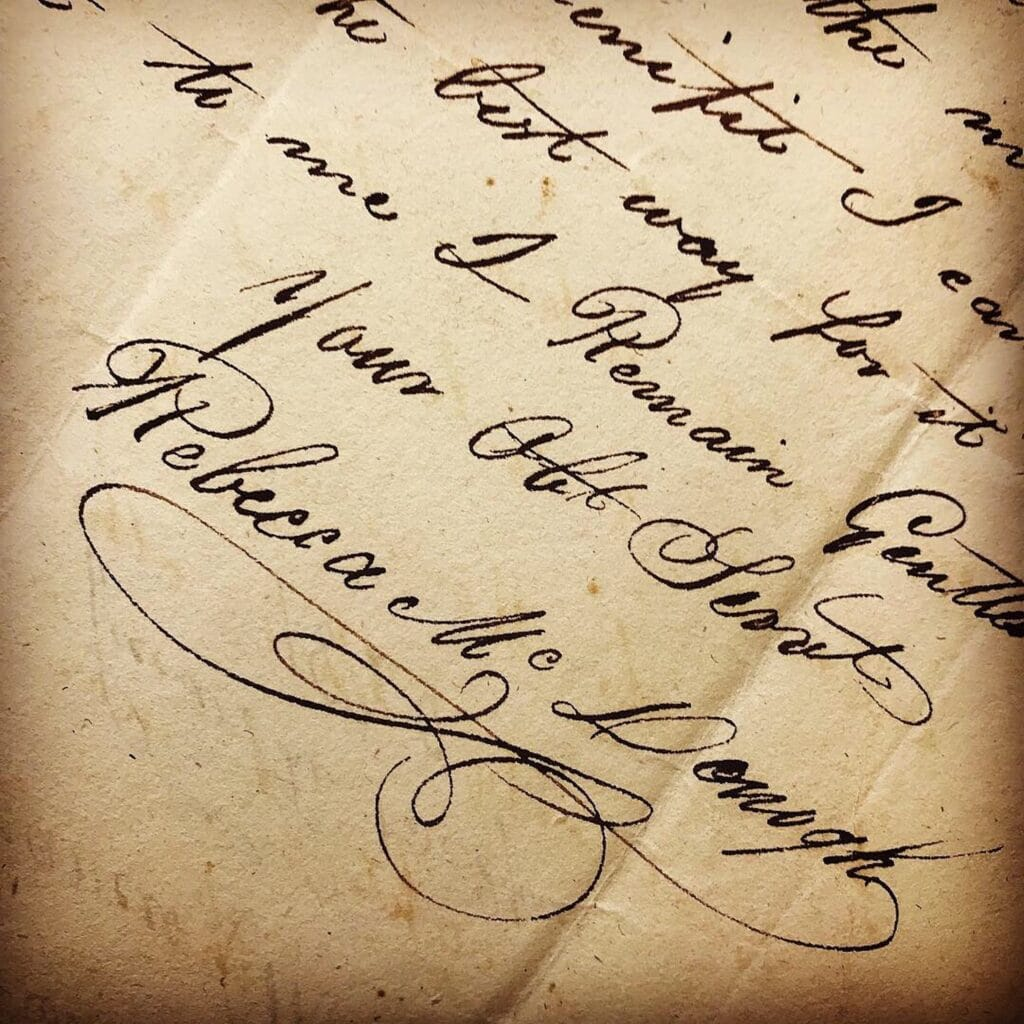Rebecca McDonogh Signature